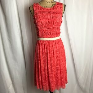 Anthropologie Postmark Polka Dot Dress